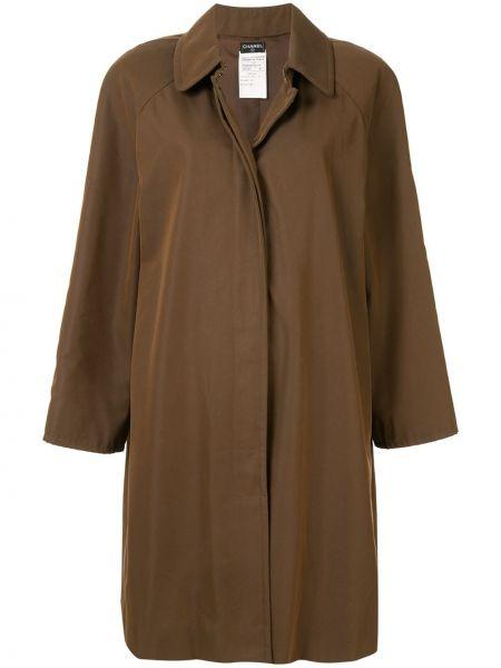 Коричневая куртка с воротником винтажная Chanel Pre-owned