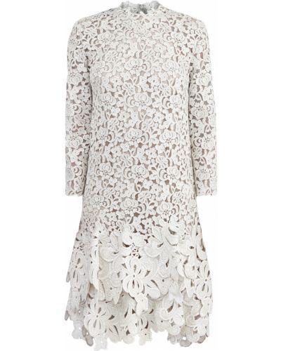 Платье с цветочным принтом с длинными рукавами Ermanno Scervino