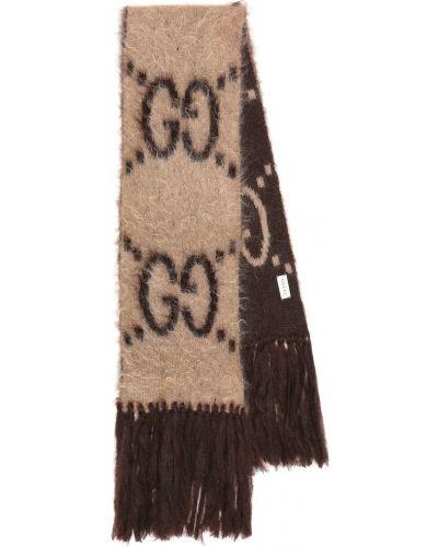 Бежевый шарф из мохера Gucci