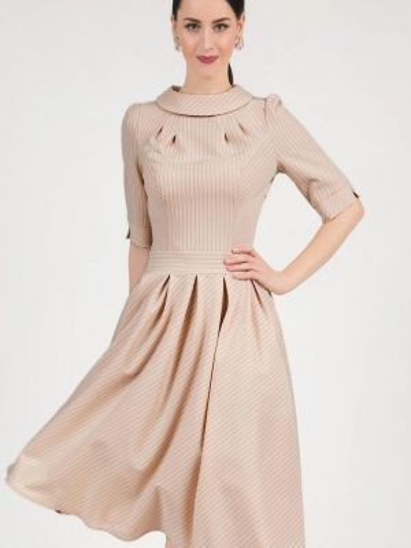 Повседневное платье осеннее бежевое Grey Cat