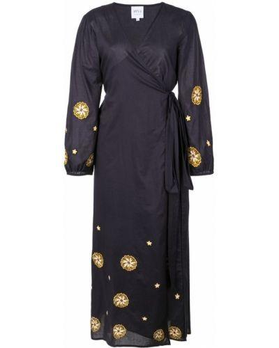 Платье миди с запахом с V-образным вырезом Misa Los Angeles