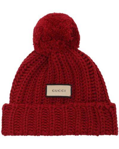 Lakierowane wełniany kapelusz Gucci