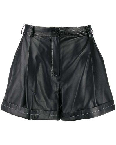 Однобортные черные шорты с карманами Ruban