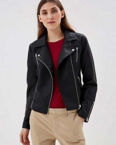 Кожаная куртка весенняя черный Only