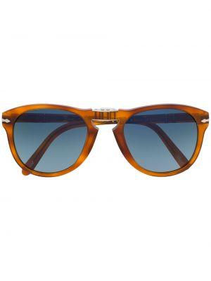 Brązowe okulary srebrne Persol