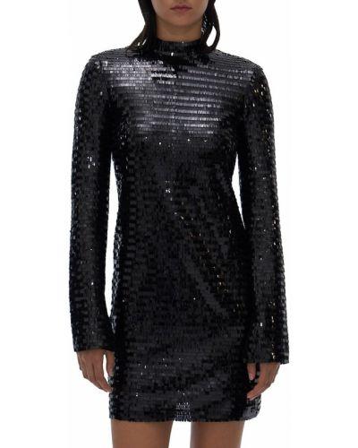 Sukienka długa z długimi rękawami - czarna Helmut Lang