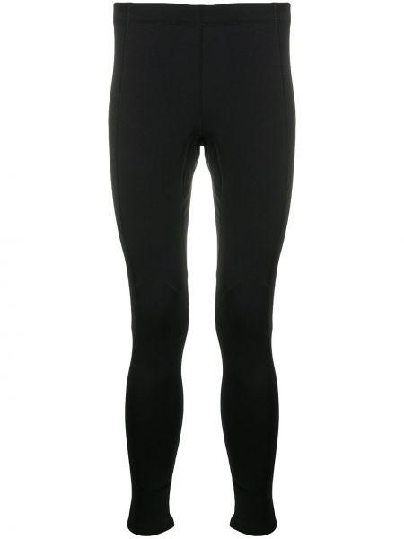 Czarny legginsy rozciągać z mankietami Balenciaga