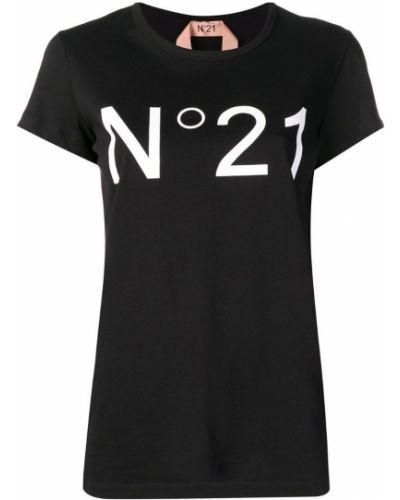 Футболка черная с логотипом N21