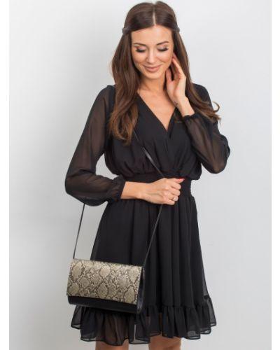 Czarna złota kopertówka Fashionhunters