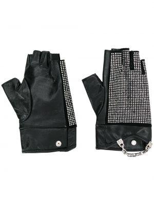 Кожаные черные перчатки Karl Lagerfeld