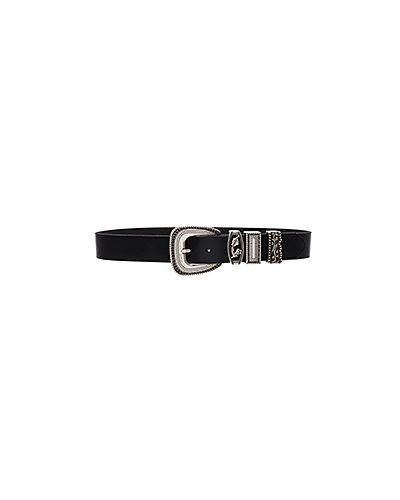 Черный ремень кожаный Linea Pelle