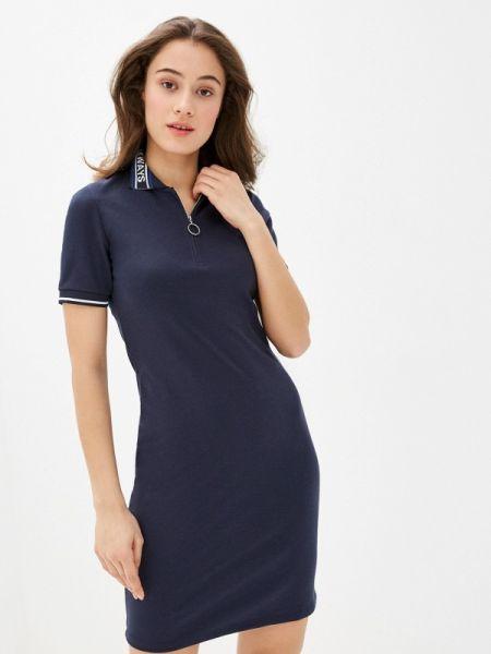 Платье футболка синее Colin's