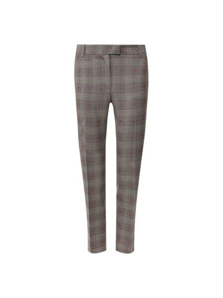 Шерстяные серые брюки с воротником Paul&joe