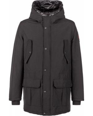 Куртка с капюшоном демисезонная черная Aeronautica Militare