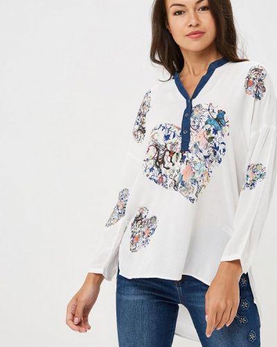 Белая блузка с длинным рукавом Desigual