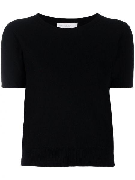 Z rękawami czarny kaszmir pulower okrągły dekolt Fabiana Filippi