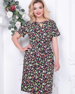 Летнее платье с цветочным принтом с поясом Diolche