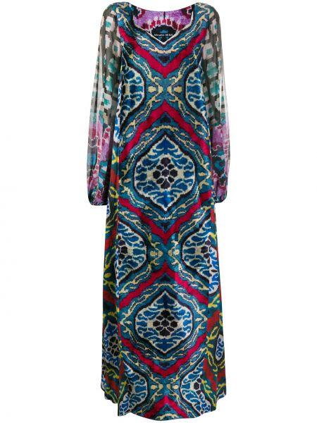 Платье макси с V-образным вырезом шифоновое Afroditi Hera