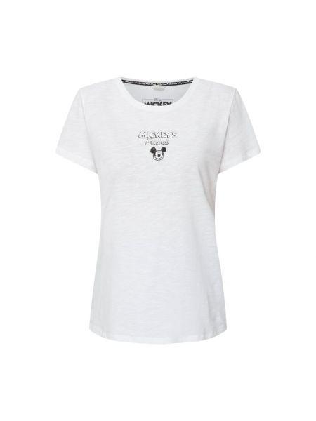 Biała koszulka z printem Frogbox