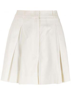 Свободные хлопковые белые шорты Nk