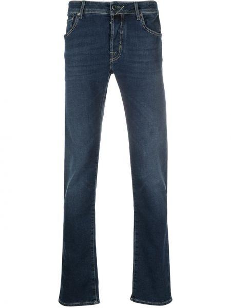 Синие прямые джинсы на молнии Jacob Cohen