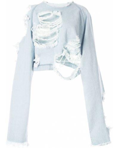 Синяя рубашка Pony Stone