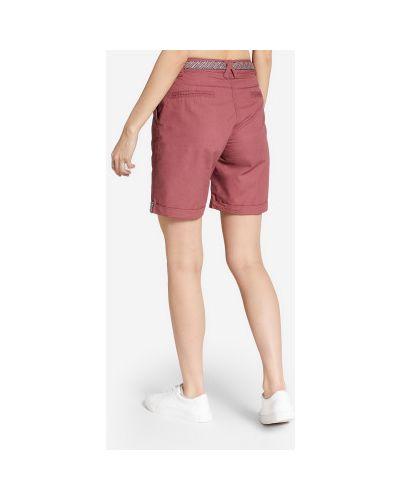 Прямые красные хлопковые шорты Termit
