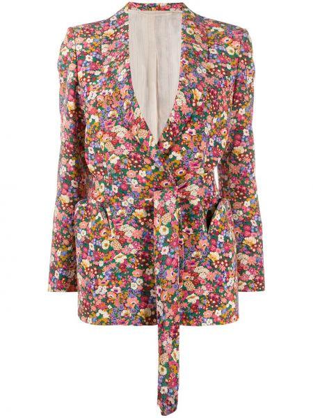 Шелковая розовая куртка с манжетами на пуговицах Blazé Milano