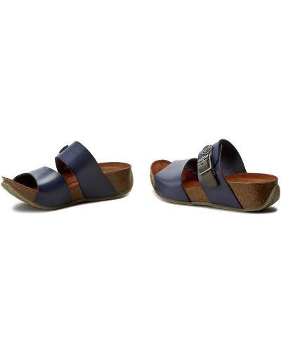 Шлепанцы на каблуке - синие Dr. Brinkmann