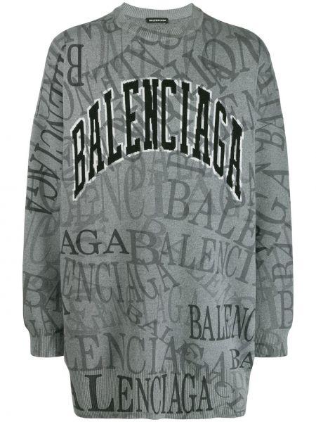 Czarny z kaszmiru sweter z długimi rękawami Balenciaga