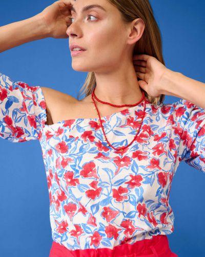 Bluzka asymetryczna krótki rękaw bawełniana Orsay