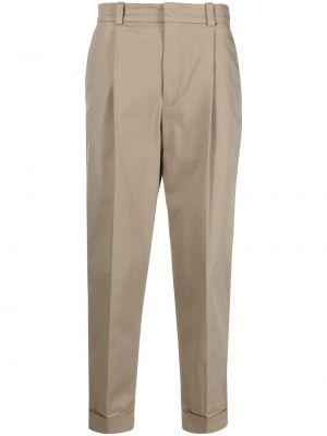 Beżowe spodnie bawełniane z paskiem Acne Studios