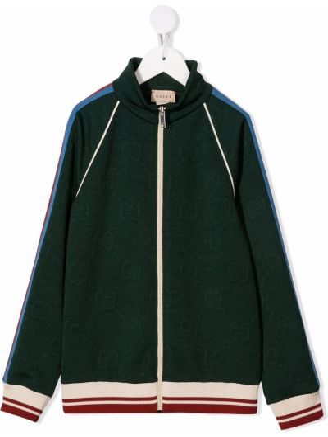 Zielona kurtka ze stójką Gucci Kids