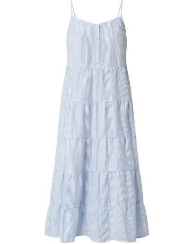 Niebieska sukienka midi bawełniana Moss Copenhagen