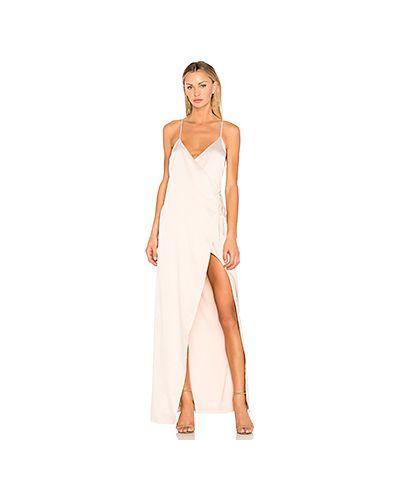 Вечернее платье с запахом с бисером Nbd