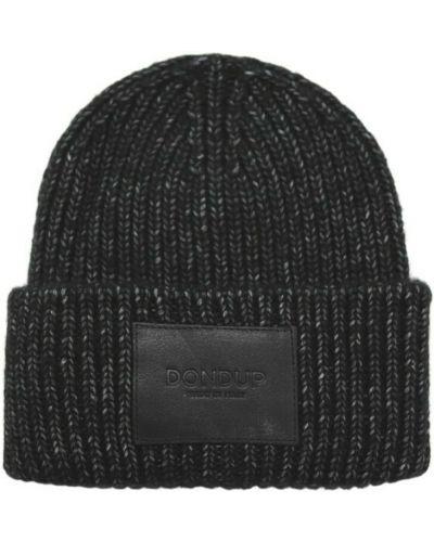 Czarna czapka Dondup