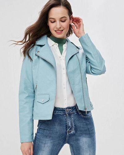 Кожаная куртка - голубая Adrixx