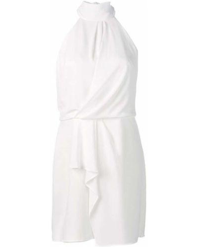 Платье мини с вырезом с оборками Halston Heritage