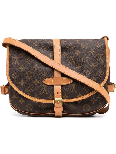 Brązowa torebka crossbody skórzana z klamrą Louis Vuitton