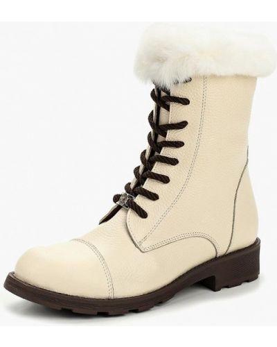 Кожаные ботинки осенние бежевый Grand Style