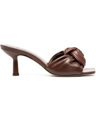 Мюли на каблуке - коричневые By Far