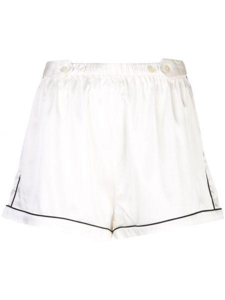Шелковые шорты - белые Morgan Lane