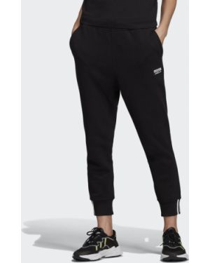 Черные джоггеры с манжетами Adidas