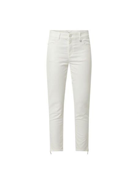 Białe jeansy rurki bawełniane Comma