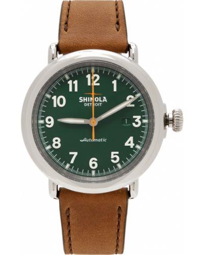 Biały zegarek skórzany Shinola