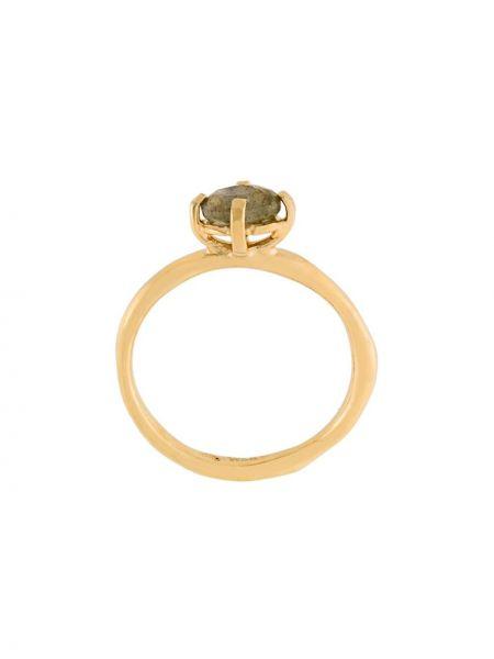 Золотистое желтое кольцо позолоченное Wouters & Hendrix