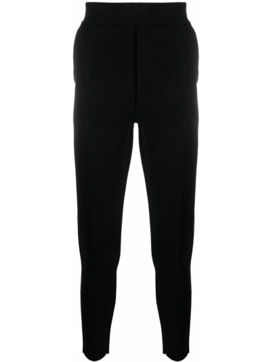 Czarne spodnie wełniane Falke