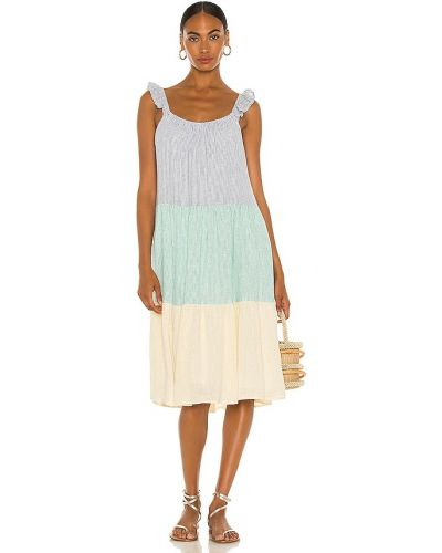 Льняное синее платье с подкладкой Rails