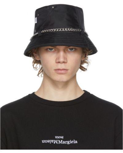 Нейлоновая с ремешком черная шляпа с заплатками Kara