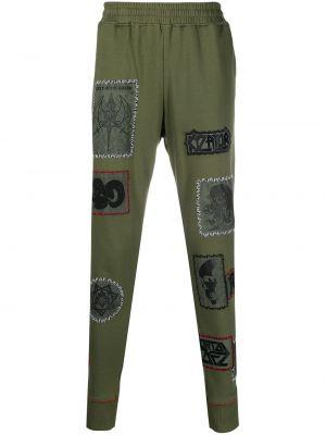 Zielone spodnie bawełniane Ktz